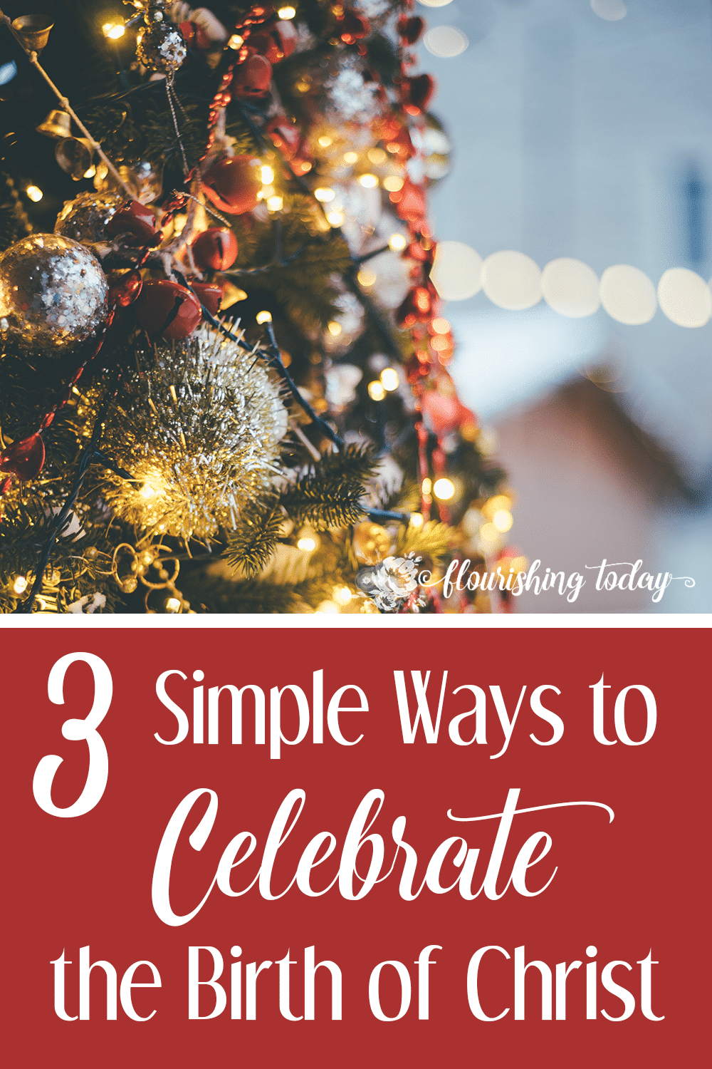 The holidays are a time for celebrating. But many times we forget the why behind the celebration. Here are a few ideas to celebrate Christ.