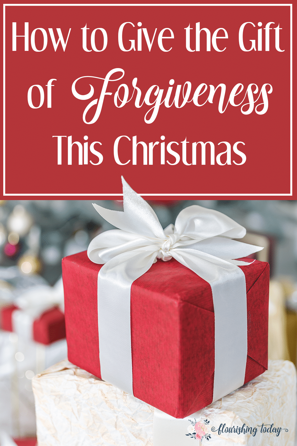 Struggling to forgive someone? Deep hurts can fester around the holidays. Giving the gift of forgiveness this Christmas can be the best gift, even for you!
