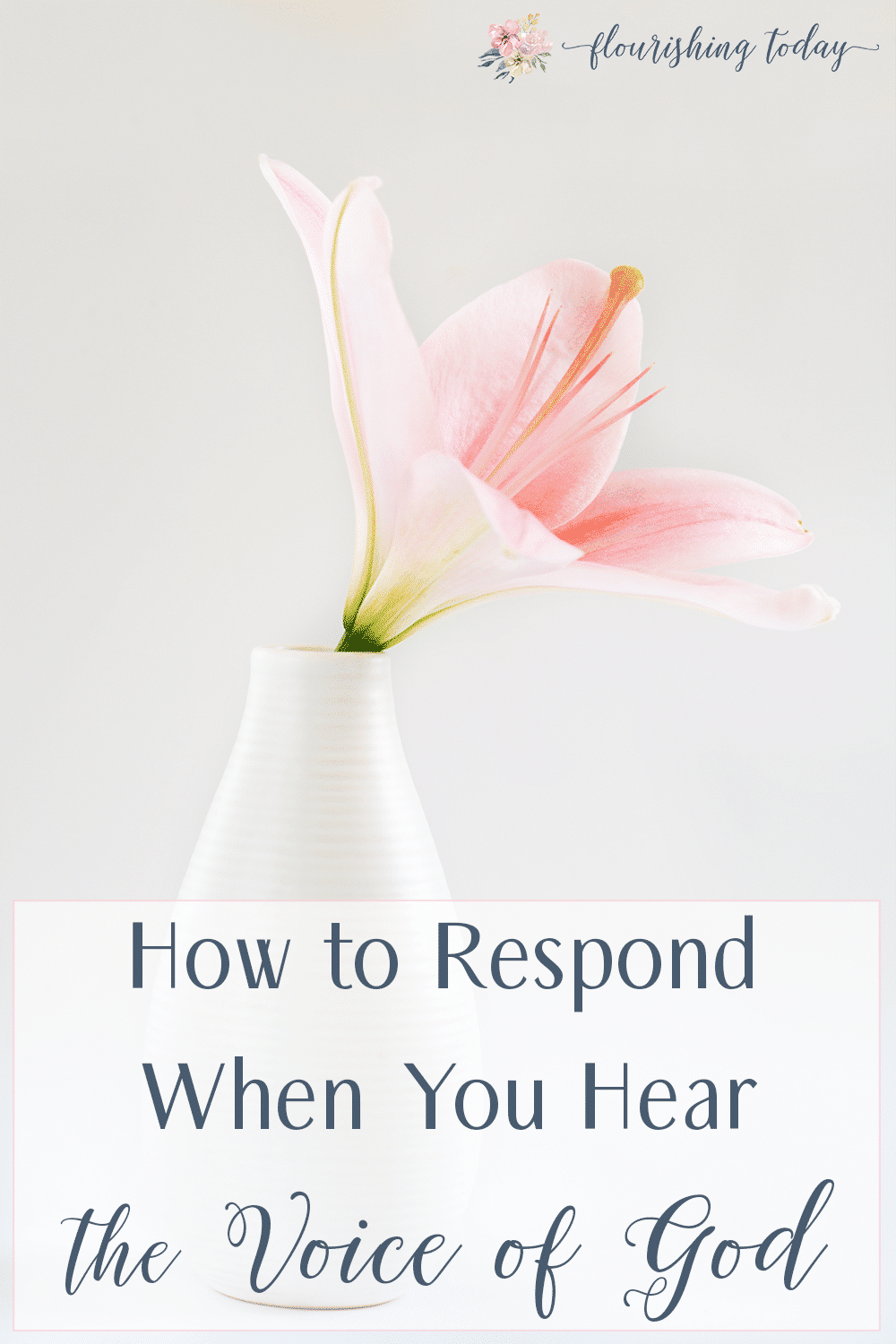 Do you feel like God is speaking to you, but you are afraid to respond? Fear can hold us back from the greatness God has for us. Here's a few tips on how to respond when you hear the voice of God. #listen #nofear
