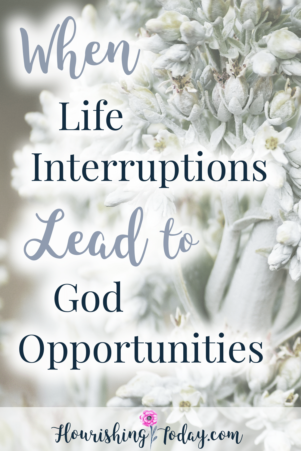Do you feel like life is full of interruptions? While life's interruptions can make us uncomfortable, they can also open the door for God opportunities.