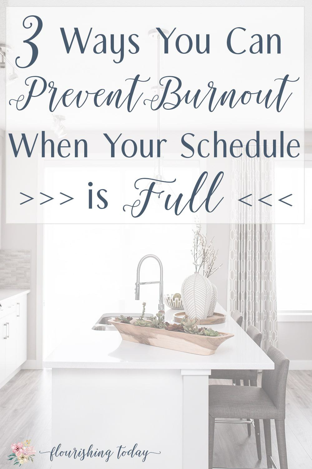 Do you find yourself overwhelmed by the load you are carrying every day? Here are 3 ways to prevent burnout when your schedule is full. #burnout #peace