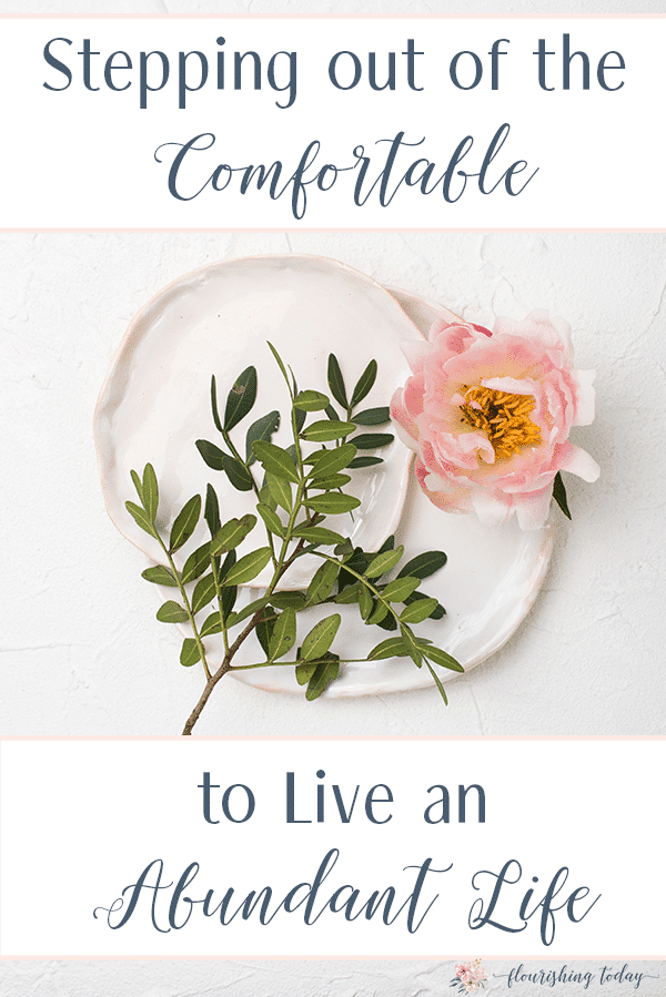 How do we step out and follow Jesus when life gets uncomfortable? Do we give up or ignore His voice? Following Him has a cost, but also a great reward. Are you ready to step out of the comfortable to live an abundant life? Here's some tips to get you started. #comfort #bibleverses