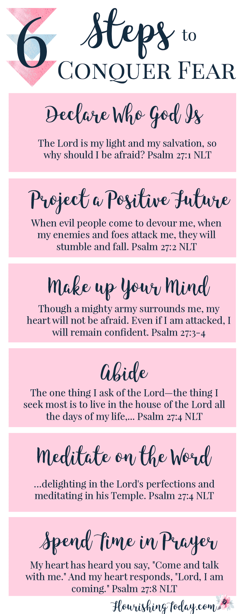 What fears are you battling? Aren't sure how to conquer them? Here's 6 ways to Take Heart when Fear Creeps In. Grab your free Printable!