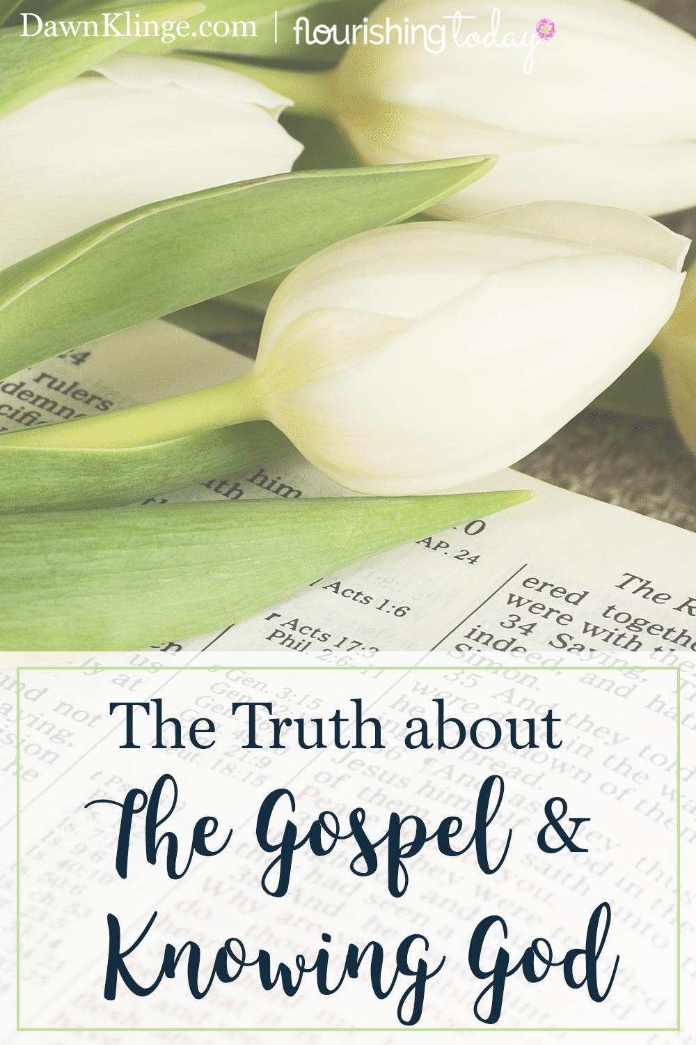 Do you want to know more about who God is? When we learn the truth about the gospel, we gain greater insight into who the Father is.