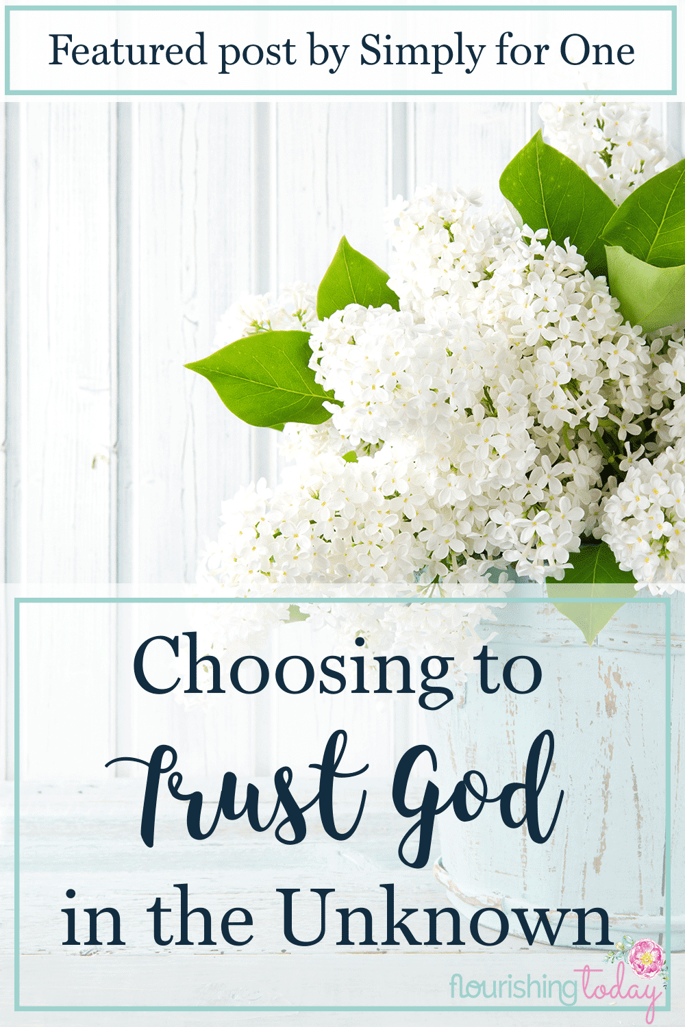 Do you find it difficult to trust to God in the unknown? How do you respond when the future is uncertain? Here are a few tips for learning to trust God.