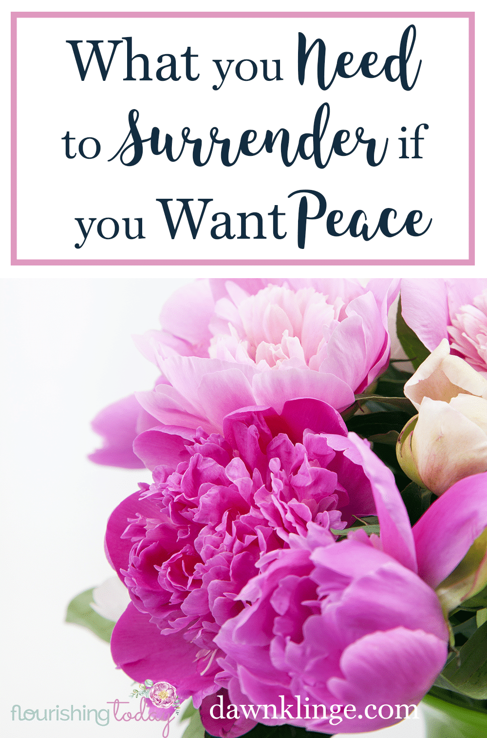 Do you find it hard to to surrender to god completely? We all have things that we can hold onto. But perfect peace comes with complete surrender.