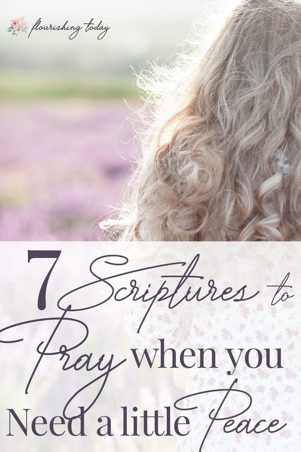 Are you searching for peace, but are still feeling anxious? God's Word promises us peace. Here are 7 scriptures for peace to pray over your life. #prayer #scriptures #praying #bibleverses