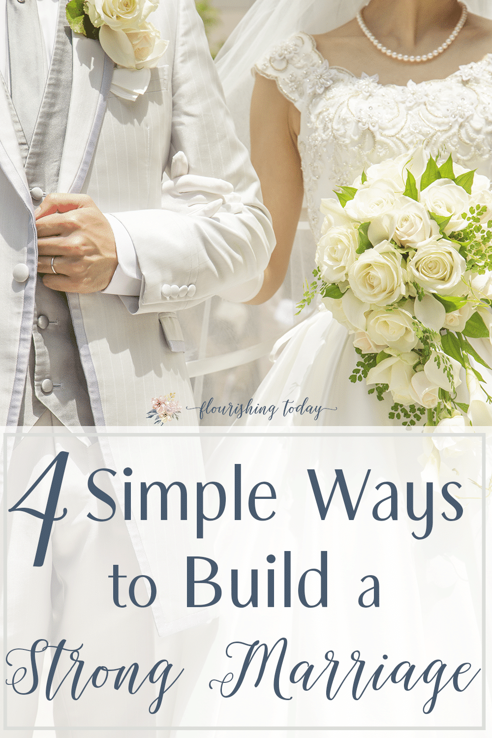 Do you want to build a strong marriage? Many times we want to invest in our marriage, but we aren't sure what to do. Here are 4 simple ways you can build a strong marriage that will last a lifetime. #marriage #marriedlife #freeprintable #married #together