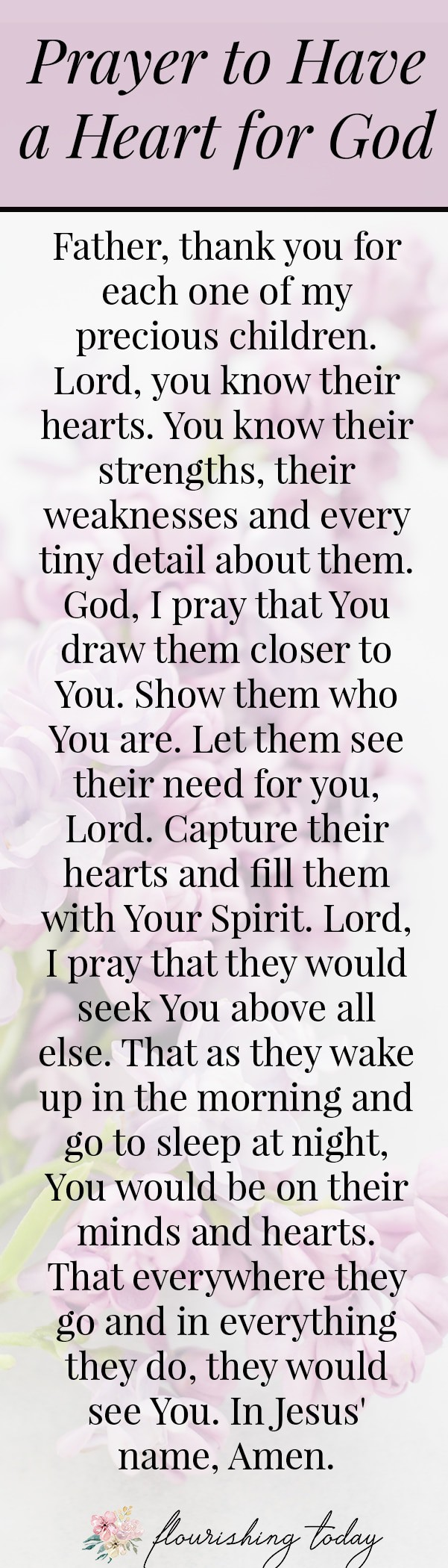 Do you pray specifically and strategically for your family? There is power when we get intentional with our prayers. Here are 5 prayers for my family for unity, strength, purpose, relationships and to have a heart for God. #prayer #prayers #family #intentionality #freeprintable