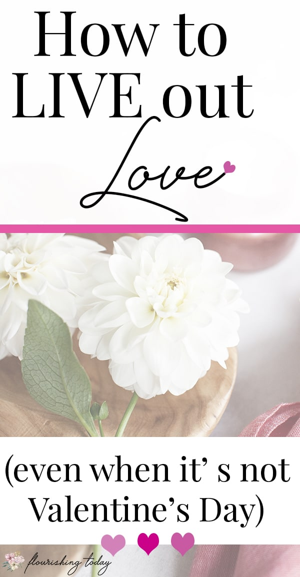 Do you want to live out love in your relationships? Showing love doesn't have to be exclusively for Valentine's Day! You can be intentional with showing love to your husband or even your teenager with these heart printables & encouraging note cards. #ValentinesDay #showlove #love #printables #encouragement