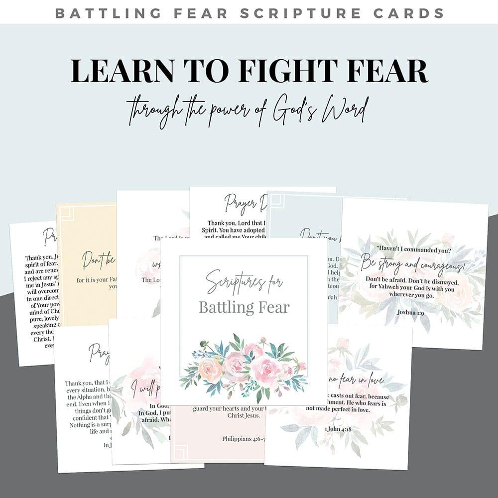 battling fear scripture cards